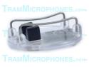 TR-MC1 | Clip, Mic Cage, With Plain Back, Clear/Black, Accessory For Tram TR50 Lavalier Mics